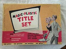 Vintage Stanley Magic Plastic Title Set for Movie Titles and Film editing