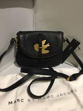 NWT MARC by MARC JACOBS Petal to the Metal Bird Crossbody Flap bag BLACK GOLD