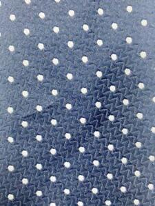GIVENCHY DARKBLUE LIGHT GRAY SMALL DOTS POLYESTER NECKTIE TIE MMA1921A #R01