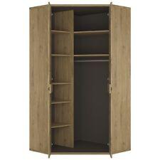 Maya Light Oak Effect 2 Door Corner Cupboard / Cabinet 99cm 197cm 99cm