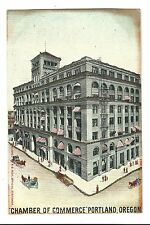 Old Postcard Chamber Of Commerce Building Portland Or Undivided Glitter Bb Rich
