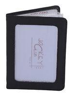 Ausweishülle Kartenmappe  Portmonee LEAS in Echt-Leder, schwarz