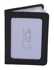 Ausweishülle JOCKEY CLUB in Echt-Leder, schwarz - ''LEAS Card-Collection''