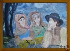 grande dipinto moderno stile Terruso firma Angela
