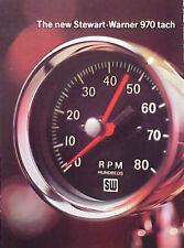 1967 Stewart Warner 970 Tach tachometer ORIGINAL OLD Ad CMY STORE  5+= FREE SHIP
