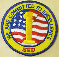 SED 1 Committed To Excellence American Flag Patch Emblem Travel Souvenir Badge