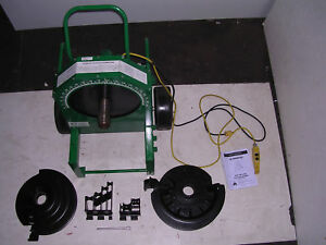 """Greenlee 555 Conduit Pipe Bender 2 RIGID PVC Shoes 2 Rollers 1/2"""" to 2"""" IMC EMT"""