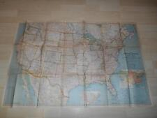 """Old Vtg 1940 UNITED STATES CANADA MEXICO WALL MAP North America 40""""x 27"""""""