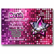 10 Personalised Birthday Party Invitations Roller Skating Skates Y31