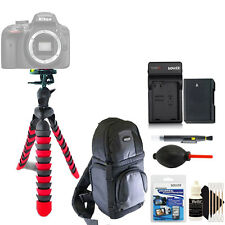 Flexible Tripod + Replacement EN-EL14 Battery + Screen Protector + 3pc Cleaning