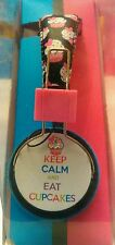 New Vivitar KIDS Keep calm and EAT Cupcakes Stereo HEADPHONES with in-line mic