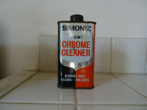 Vintage Simoniz Chrome Cleaner Can for Display - Dried Product in Can Unusable