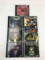 Lot of 7 Vintage Classic PC Video Games w/Cases