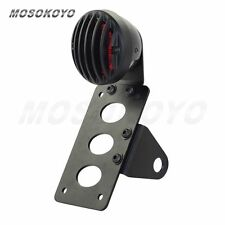 Motorcycle License Plate Bracket Side Mount Tail Light Fit Harley Choppers Black