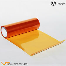30 x 60cm Orange Smoke Headlight Tinting Film Fog Tail Light Tint Car Vinyl Wrap