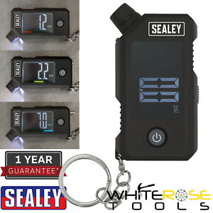 Sealey Digital Tyre Pressure and Tread Depth Gauge LED Display Keychain
