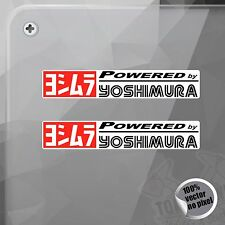 PEGATINA POWERED BY YOSHIMURA EXHAUST DECAL STICKER AUFKLEBER AUTOCOLLANT