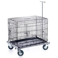 Käfig Trolly Drahtkäfig Transportbox Hundekäfig Flugbox Wagen Transportkäfig