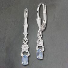 Orecchini di lusso blu pendente in argento