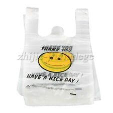 100P Small Plastic Singlet Grocery Shopping Bag Checkout Carrying Bags 20x30cm