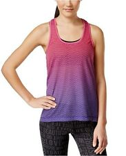 Ideology Space-Dyed T-Back Tank Top Molten Pink/Purple Size Small