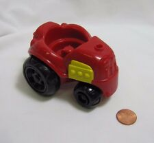 Fisher Price Little People RED FARM TRACTOR for FARMER FIELD Vehicle Barn Rare!