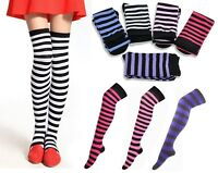 Fashion Cute Girl Stripe Striped Over The Knee Thigh High Stockings Long Socks E