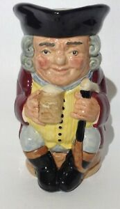 Vintage Royal Doulton Jolly Toby Jug Holding Pint 6 inches tall
