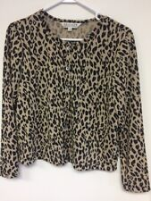 UNIFORM John Paul Richard Blouse - Size Small- Cheetah Print- Button Front