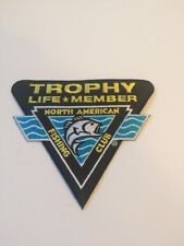 NAFC NORTH AMERICAN FISHING CLUB TROPHY LIFE MEMBER PATCH ~ NEW!