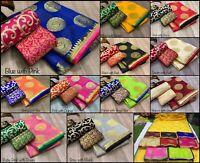 Saree Indian Sari Designer Silk Pakistani Wear Party Wedding Sc Blouse Fancy