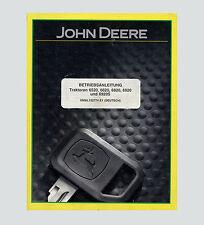 JOHN DEERE Traktor 6520 6620 6820 6920 6920S  Betriebsanleitung  Original 2001