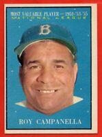 1961 Topps #480 Roy Campanella EX-EXMINT+ MVP Los Angeles Dodgers HOF FREE SHIP