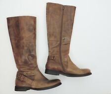 Women's Coconuts Tall Brown Leather Riding Boots Size 6M