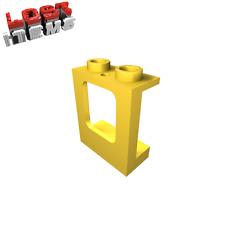 4 x [neu] LEGO Fenster 1 x 2 x 2 flach - gelb - 60032