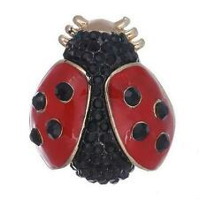Hermoso Broche Ladybird en esmalte y Diamante Pin Nuevo Diseño