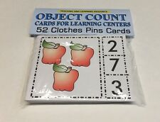 Object Counting Cards For Learning Center Preschool 52 Cards Teaching supplies