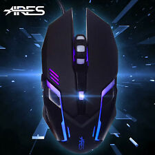ARES M1 2400DPI USB Cablato 7 LED di respirazione Colore Gioco Per PC Laptop Gaming Mouse Mice