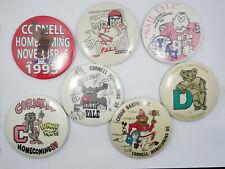 LOT of 7 CORNELL UNIVERSITY FOOTBALL HOMECOMING PIN 1984, 85,86, 87, 88, 89 1993