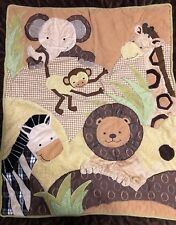 "Pre Owned~Lambs & Ivy ""Safari/Zoo Theme� Unisex 3 -Piece Nursery Bedding Set"