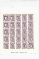 superbe bloc de 25 du hambourg du nr 21 impression gaufree  reimpression 1978