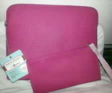 "Martha Stewart Home Office Laptop Sleeve Avery Hot Pink 10"" Pouch iPad Tablet"