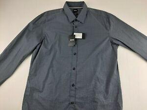 NEW Hugo Boss Ronni Slim Fit Stretch XL Geometric Shirt Long Sleeve Luxury E