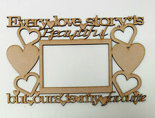 Every love story is beautiful but... Wood home decor, Photo, Gift, Craft.