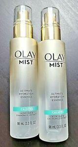 2x Olay Mist Ultimate Hydration Essence Calming Aloe Leaf Chamomile 3.3oz