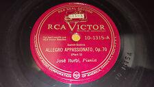 JOSE ITURBI Allegro Appassionato Op. 70 (Parts 1 & 2) 78 RCA Victor 10-1315 VG+