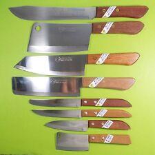 Thai Chef Knife Cook KIWI Knives Set 8 pcs Wood Handle Kitchen Blade Stainless