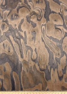 "Walnut Burl composite wood veneer 12"" x 48"" with paper backer 1/40"" thick # 1215"