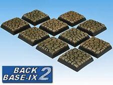 25mm Resin Bases (10) Square Cobblestone Warhammer