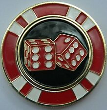 Unbelievable Magnetic Las Vegas Pocket Coin removable Golf Ball Marker -See Pics